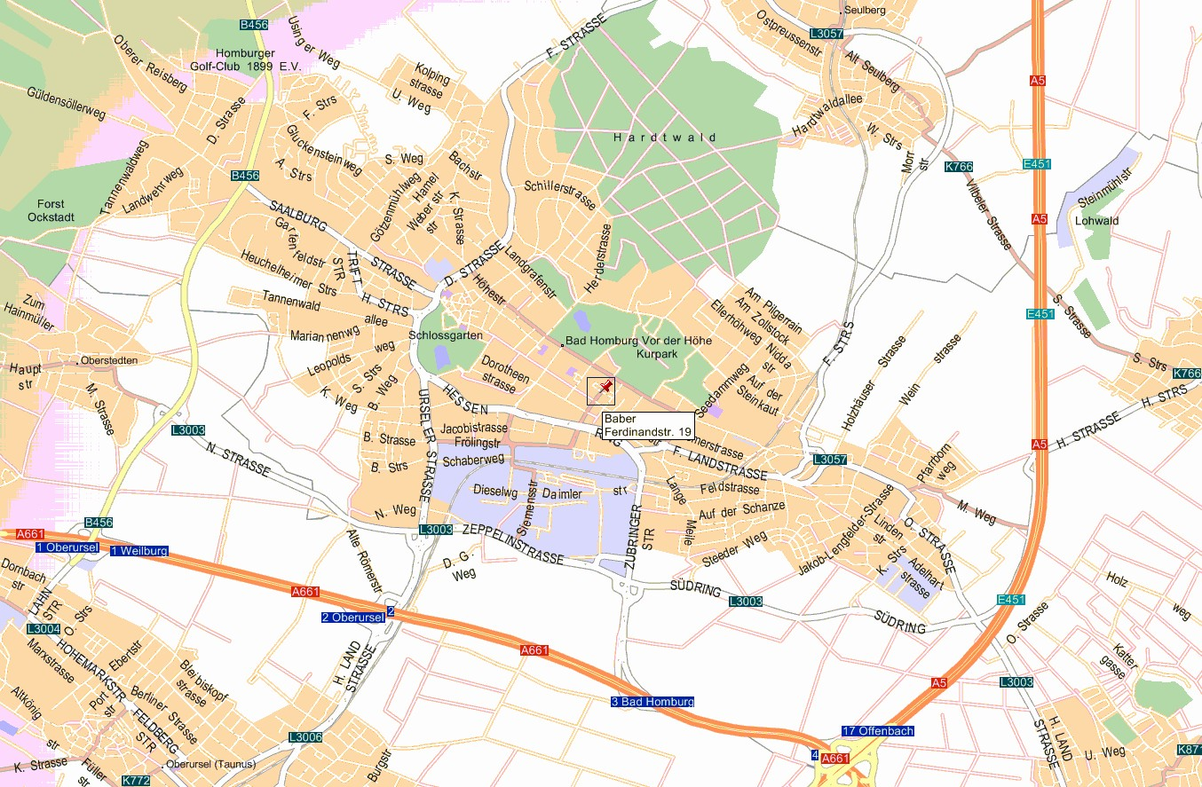 Bad Homburg Germany Map.Ursula Baber And Robert L Baber Home Page